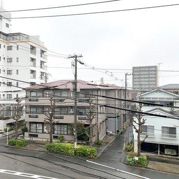 眺望は静かな住宅街でした。
