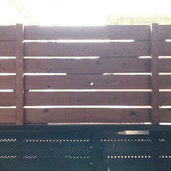 柵が高い!人目が気にならないのはいいですね。