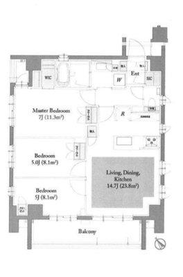 オープンレジデンシア表参道神宮前ザ・ハウス の間取り