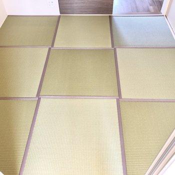 【和室】濃淡を使い分けたおしゃれな畳の和室ですよ。