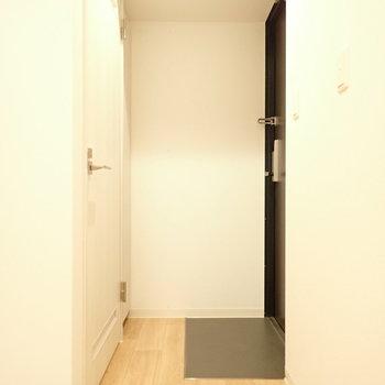 玄関前にトイレです。