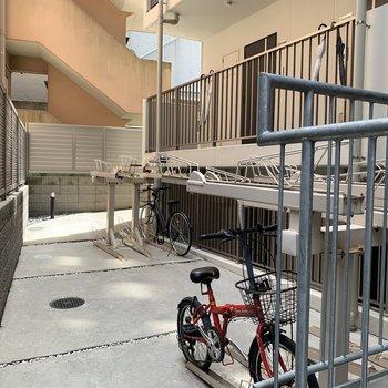 駐輪場付き。ぜひ自転車をご活用ください。