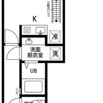 一人暮らし向けのお部屋です。