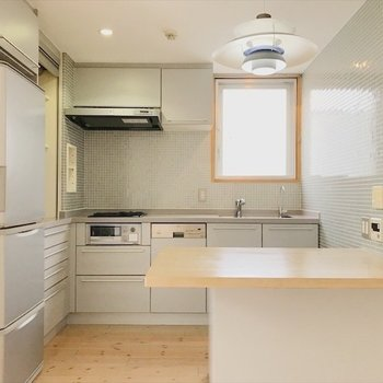 BIGなキッチンには、冷蔵庫・食洗機が付いています!