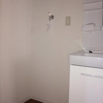 そのお隣に洗濯機置場です。