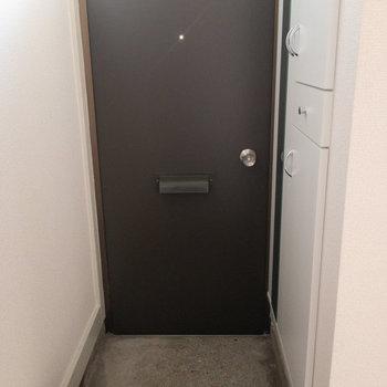 玄関周り。右手にありますのはシューズボックス。
