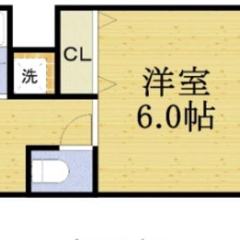 角が3つあるので、家具が置きやすそうです