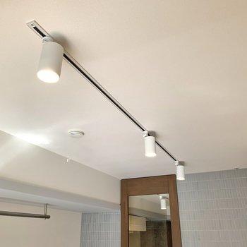 ライティングレールが優しくお部屋を照らしています。