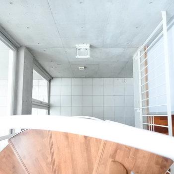 3階から見下すとこんな感じ。天井がたかーいのです。