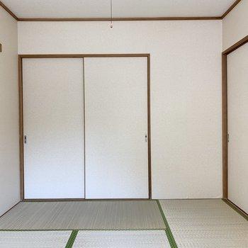【和室】畳でゴロゴロしたくなります。※写真は1階の同間取り別部屋のものです
