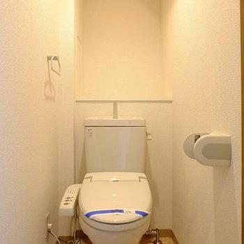 広めのトイレ空間(※写真は1階の反転間取り別部屋のものです)
