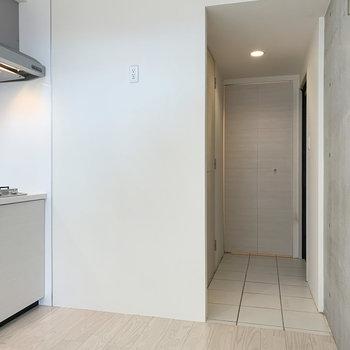 【下階】冷蔵庫はこちらに。