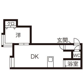 ダイニングキッチンは9帖。洋室は6帖です。