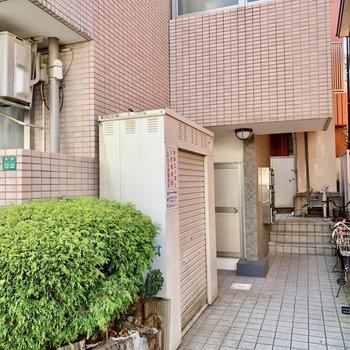 こちらがマンション入口。オートロックはありません。