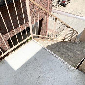 共用部は階段のみです。