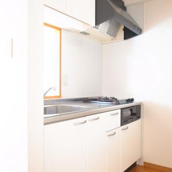 キッチンスペースはちょっと窮屈ではありますが……
