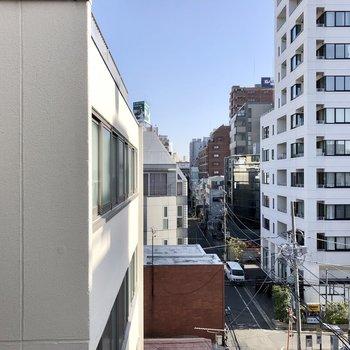 左隣の窓からの眺望。
