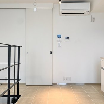 1階にはエアコンが付いています。