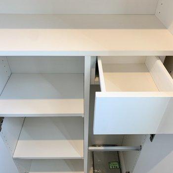 鍵など小物もしまっておけます。※写真は3階の同間取り別部屋のものです