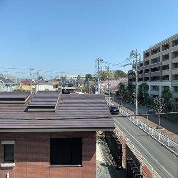 リビング窓からの眺望です。