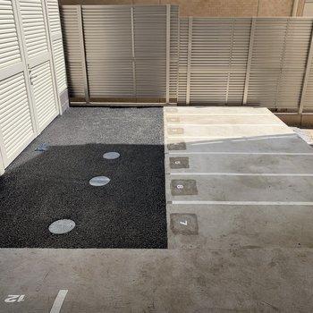 駐輪場付き、自転車を活用しても◯