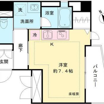 各設備と居室は廊下でつながっています。