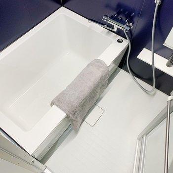 お風呂も広々。ついつい長風呂になりそうだ…!(※小物は見本です)