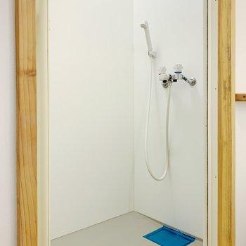 お風呂はシャワールーム。3点ユニットじゃない分、広く使えますね。