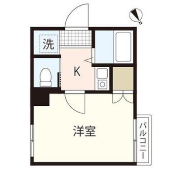 洋室は6帖で、シンプルな暮らしができそうだな。