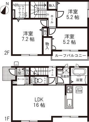 仮)鶴ヶ島市中新田戸建貸家 の間取り