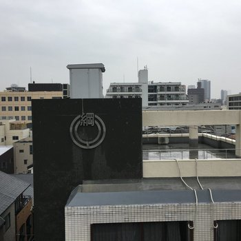 眺望は住宅街です