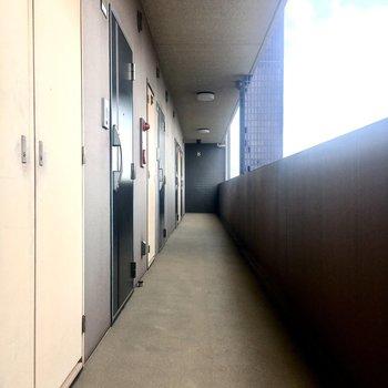 【共有部】奥のお部屋なのでエレベーターは少し遠め。