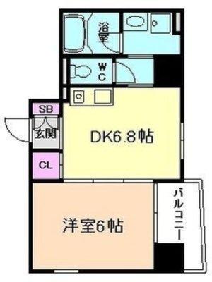 ファーストレジデンス大阪の間取り図