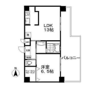 LDKも居室も、そしてバルコニーも余裕あるサイズ感です。