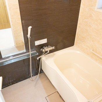 ゆったりできそうな浴槽。