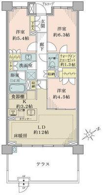 ザ・パークハウス東戸塚レジデンス の間取り
