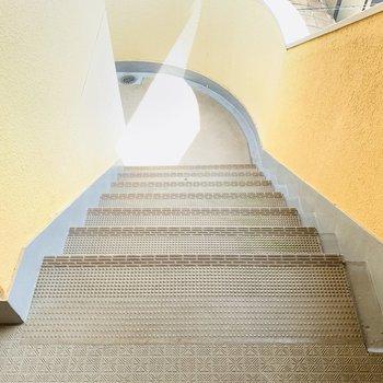 アクセスは階段のみ。