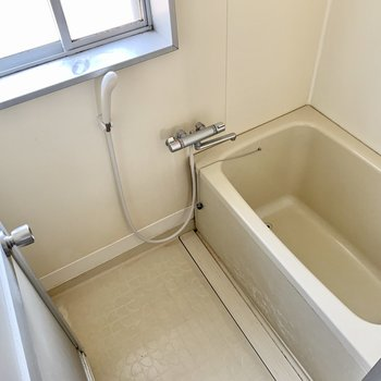 サーモ水栓で温度調整らくらく。