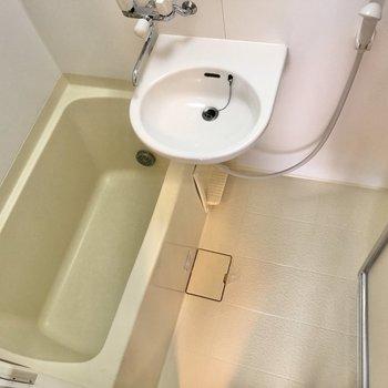 お風呂には洗い場スペースもしっかり確保されています。