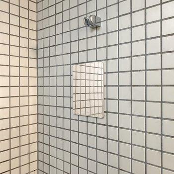 小さな鏡が正面についていました。