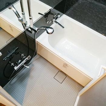 お風呂もモノトーンです。※写真は前回募集時のものです