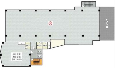 池袋 69.5坪 オフィス の間取り