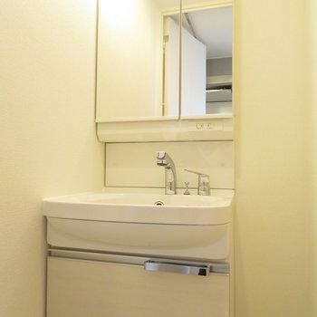 シャンプードレッサーのある洗面台※写真は同間取り別部屋のものです