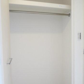 クローゼットは一人には十分かも※写真は同間取り別部屋のものです