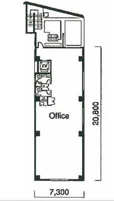 岩本町 53坪 オフィス の間取り