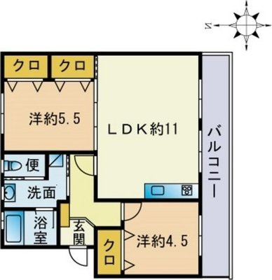HIIKAWA APARTMENTの間取り図