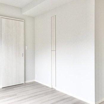 【洋室】収納は大きいのとスリムなのとふたつ。