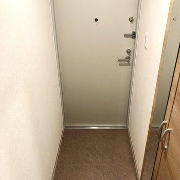 玄関は靴の脱ぎ履きをしやすそうな広さがあります。