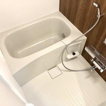 湯船も洗い場もちょうどいい広さ。