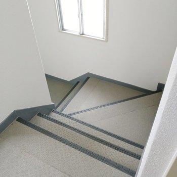 階段の幅は1人用の家具の搬入なら問題ないかな。内覧時にご確認を!